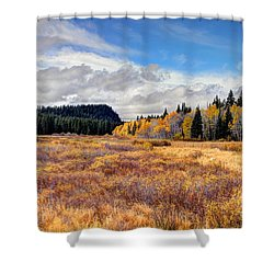 Grand Mesa Colors Shower Curtain by Bob Hislop