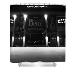 Grand Ole Opry At Night Shower Curtain by Dan Sproul