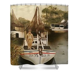 Grand Paw Domangue Shower Curtain