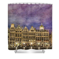 Grand Place Shower Curtain by Juli Scalzi