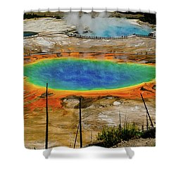 Grand Prismatic Spring No Border Shower Curtain