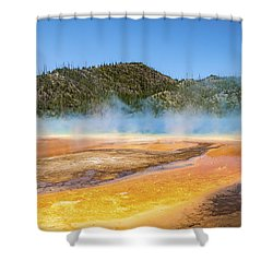 Grand Prismatic Spring - Yellowstone National Park Shower Curtain by Brian Harig
