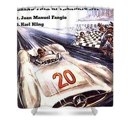 Grand Prix F1 Reims France 1954  Shower Curtain