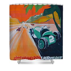 Grand Prix Shower Curtain by Julie Todd-Cundiff
