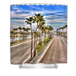 Grand Prix Of Long Beach Shower Curtain by Heidi Smith