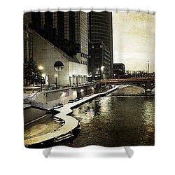 Grand Rapids Grand River Shower Curtain