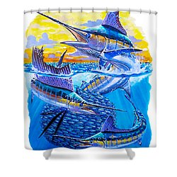 Grand Slam Baitball Shower Curtain