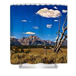 Grand Tenton Overlook Shower Curtain by Robert Bales