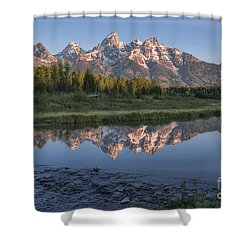 Grand Teton Awakening Shower Curtain