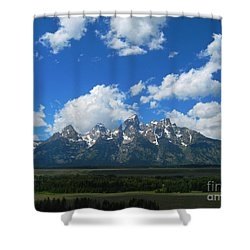 Grand Teton National Park Shower Curtain by Janice Westerberg