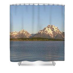Grand Teton Sunrise Shower Curtain by Brian Harig