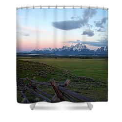 Grand Tetons Before Sunrise Shower Curtain by Brian Harig