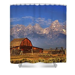 Grand Tetons From Moulton Barn Shower Curtain by Alan Vance Ley
