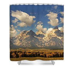 Shower Curtain featuring the photograph Grand Tetons by Sonya Lang