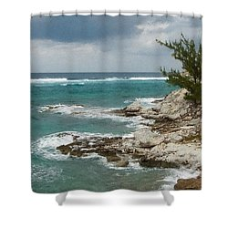 Grand Turk North Shore Shower Curtain by Michael Flood