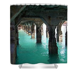 Grande Casse Pier Shower Curtain by David and Lynn Keller
