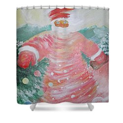 Grandfather Frost Shower Curtain