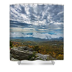 Grandfather Mountain Shower Curtain by John Haldane
