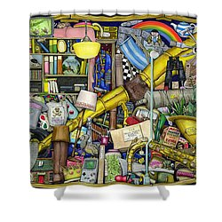 Grandfather's Chest Shower Curtain by Colin Thompson