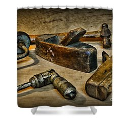 Grandfathers Tools Shower Curtain by Paul Ward