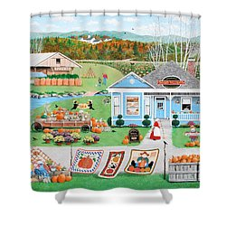 Grandma's Baked Delights Shower Curtain by Wilfrido Limvalencia