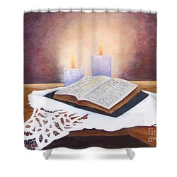 Grandma's Bible Shower Curtain
