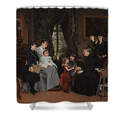 Grandmas Birthday Shower Curtain by Louis Edmond Pomey