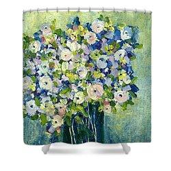 Grandma's Flowers Shower Curtain by Sherry Harradence