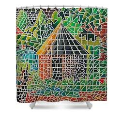Grandma's House Shower Curtain by Anthony Mwangi