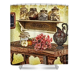 Grandma's Kitchen Shower Curtain by Mo T