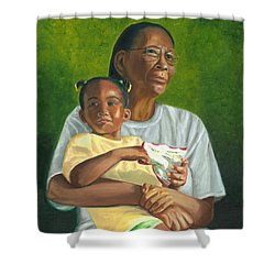 Grandma's Lap Shower Curtain