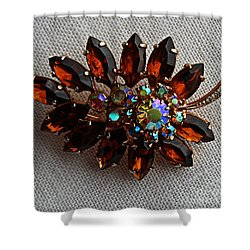 Grandmas Topaz Brooch - Treasured Heirloom Shower Curtain by Barbara Griffin