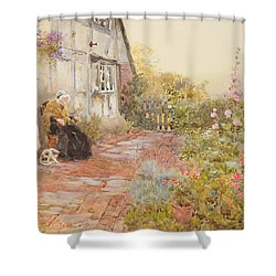 Grandmother Shower Curtain by Thomas James Lloyd