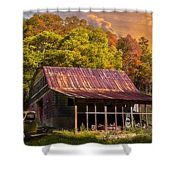 Grandpa's Old Truck Shower Curtain by Debra and Dave Vanderlaan