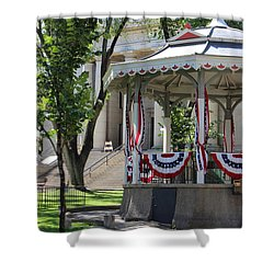 Shower Curtain featuring the photograph Grandstand Patriotism  by Natalie Ortiz