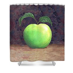 Granny Smith Apple Two Shower Curtain by Linda Mears