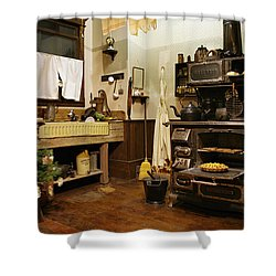 Granny's Kitchen Shower Curtain by Marilyn Wilson