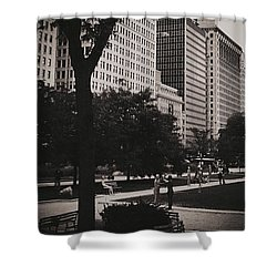 Grant Park Chicago - Monochrome Shower Curtain