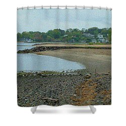 Granular Solitude Shower Curtain