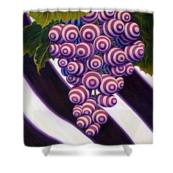 Shower Curtain featuring the painting Grape De Menthe by Sandi Whetzel
