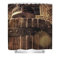 Grape Press At Wiederkehr Shower Curtain by Jason Politte