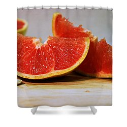 Grapefruit Slices Shower Curtain