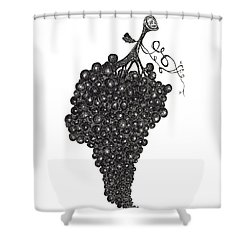 Grapefull Greetings Shower Curtain