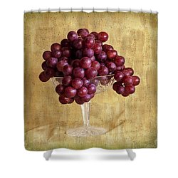 Shower Curtain featuring the photograph Grapes And Crystal Still Life by Sandra Foster