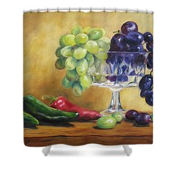Grapes And Jalapenos Shower Curtain