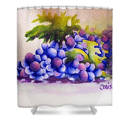 Grapes Shower Curtain by Chrisann Ellis