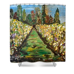 Grapes Of Tuscany Shower Curtain
