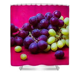Grapes White And Red Shower Curtain by Alexander Senin
