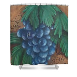 Grapes With Dewdrop Shower Curtain