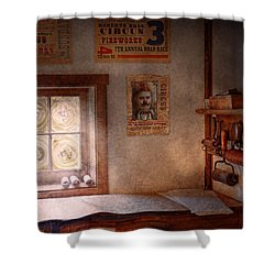 Graphic Artist - The Life Of A Proofer  Shower Curtain by Mike Savad
